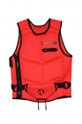 VEST WITH BELT RED